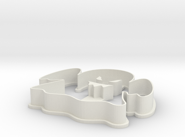 Cookie Cutter - Halloween Ghost in White Natural Versatile Plastic