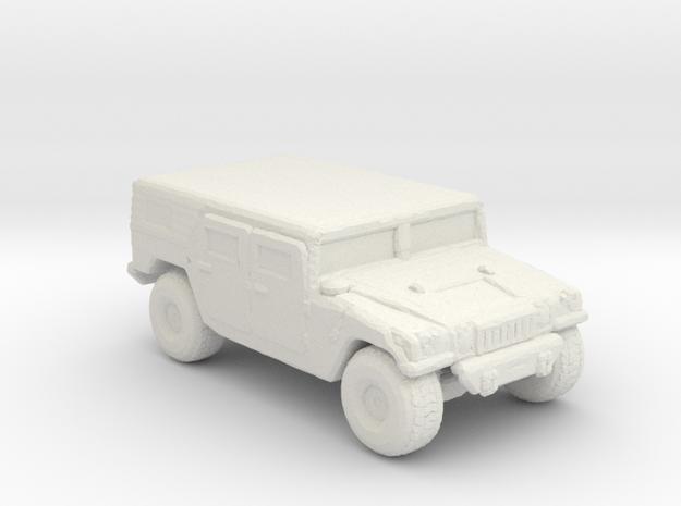M1035a1 Hardtop 285 scale in White Natural Versatile Plastic