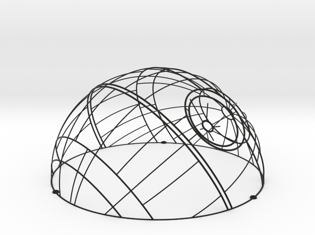 Wireframe Death Star Wall Sculpture