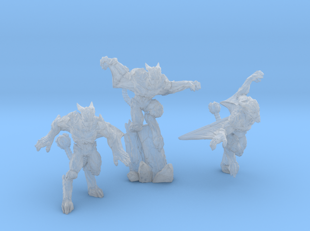 Gargoyles - Complete Set - 3 Miniatures 28/30mm Sc