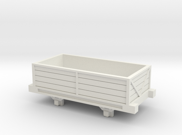 Bandai OO9 Scale Open Wagon Type 2 in White Natural Versatile Plastic