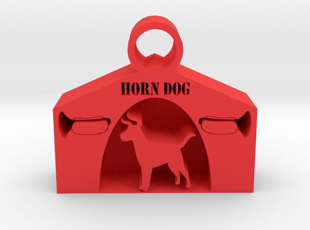Horndog pendant in Red Processed Versatile Plastic