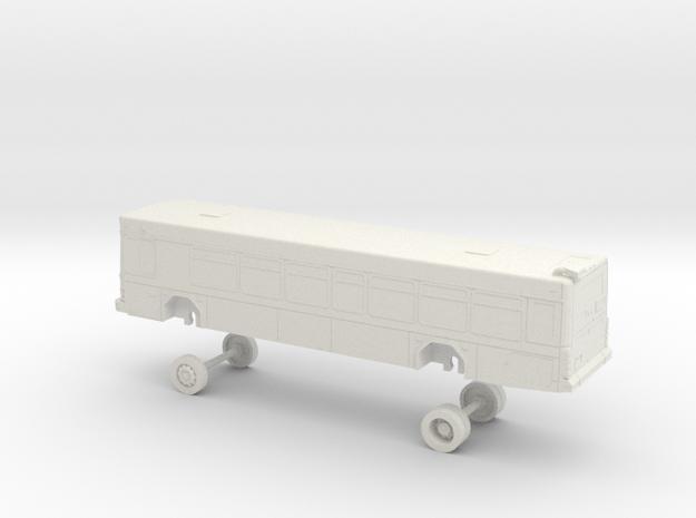 HO Scale Bus Gillig Low Floor DART 400s in White Natural Versatile Plastic