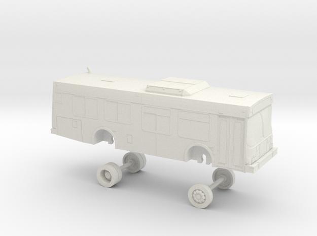 HO Scale Bus New Flyer D30LF Bangor 0027-0029 in White Natural Versatile Plastic