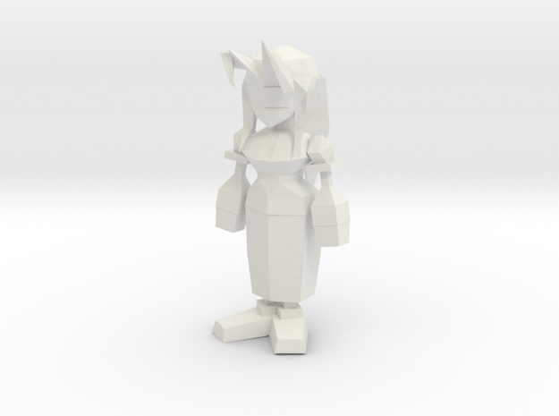 Aerith from Final Fantasy VII in White Natural Versatile Plastic: 1:8