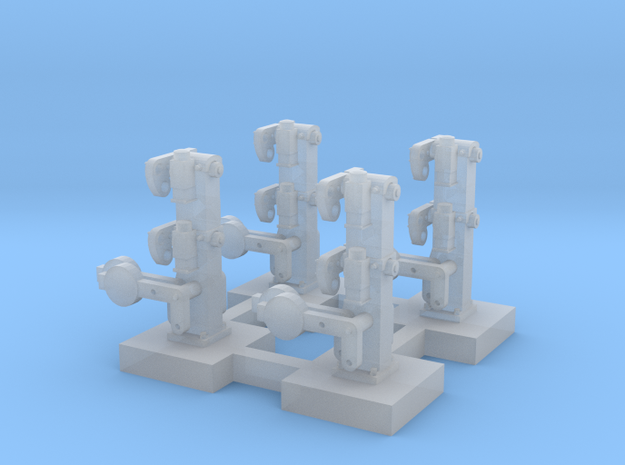 HO X 4 NSWR Dwarf Shunting Signals - Static in Smooth Fine Detail Plastic