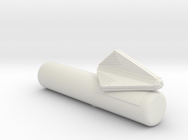 3125 Scale Tholian Cargo Patrol Corvette w/Pod SRZ in White Natural Versatile Plastic