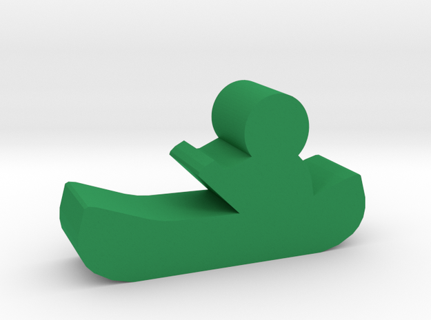 Game Piece, Canoe in Green Processed Versatile Plastic