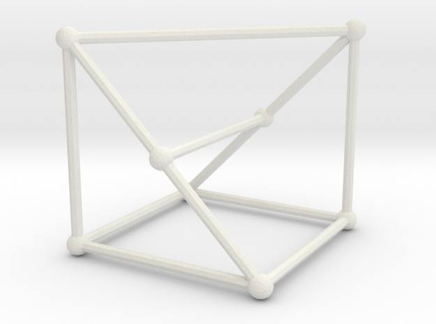 Wagner graph in White Natural Versatile Plastic: Large