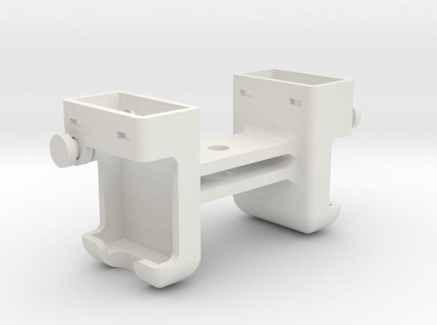 Dual ARC II Strobe Light Enclosure w/ GoPro Mount in White Natural Versatile Plastic
