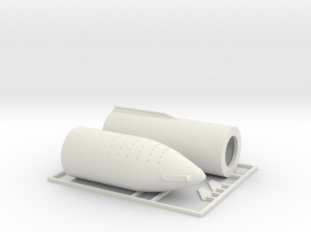 1/300 SpaceX BFR 2018 version in White Natural Versatile Plastic