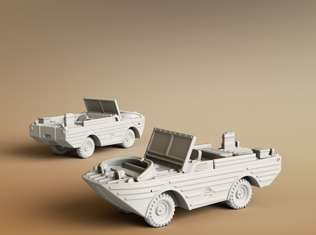 Ford GPA 1942 Amphibious Jeep Scale: 1:87 in Smooth Fine Detail Plastic