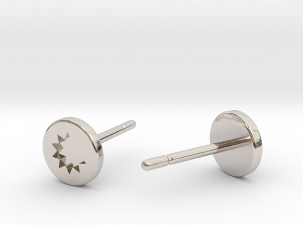 Power Posts - Engraved in Rhodium Plated Brass