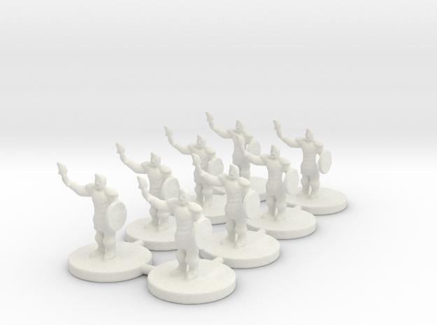 Game of Thrones Risk Pieces - Braavos - 8 Piece in White Natural Versatile Plastic