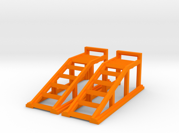 RC Garage 4WD Truck Car Ramps 1:35 Scale in Orange Processed Versatile Plastic