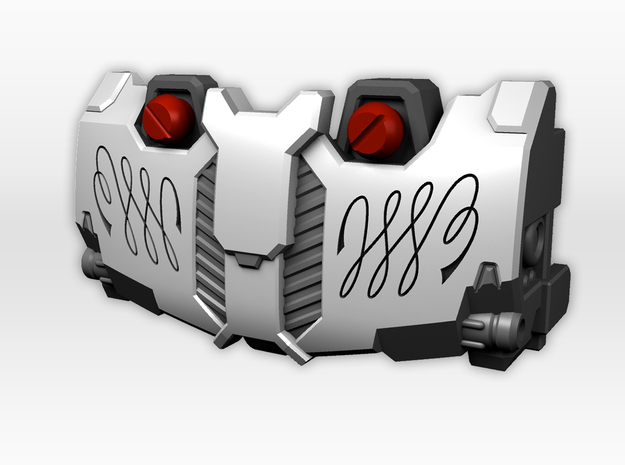 Titans Return Megatron IDW Styled Chestplate in Smooth Fine Detail Plastic
