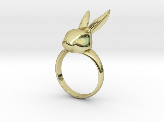 Rabbit ring in 18k Gold Plated Brass