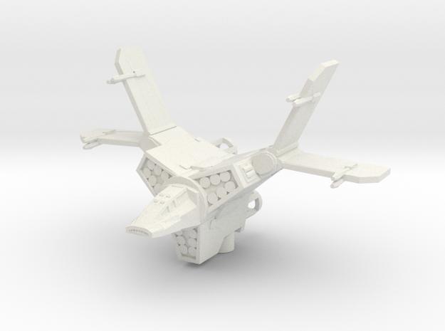 Sith Gunship in White Natural Versatile Plastic