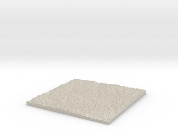 Model of Mont Flassin in Natural Sandstone