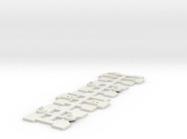 """2 Sets  Eureka 3AF Bogie Mount for  Lima 72' 6"""" Ca in White Natural Versatile Plastic"""