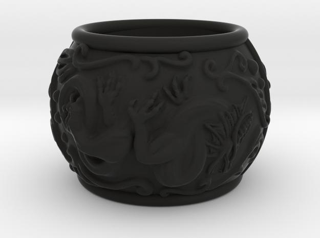 Dragon bracelet in Black Natural Versatile Plastic: Small