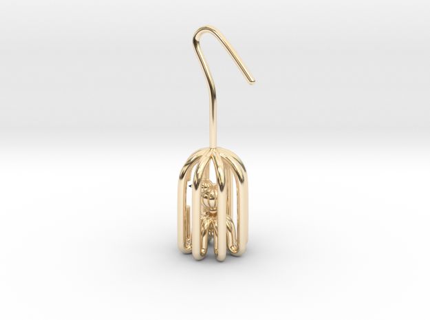 Birdcage in 14k Gold Plated Brass: Small