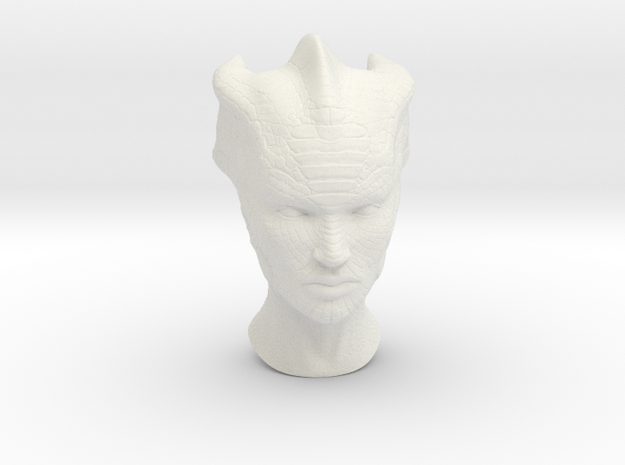 Silurian 1:6 scale angry in White Natural Versatile Plastic