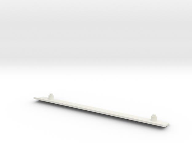 Tamiya Blazing Blazer Main Front Roof Panel Lower  in White Natural Versatile Plastic