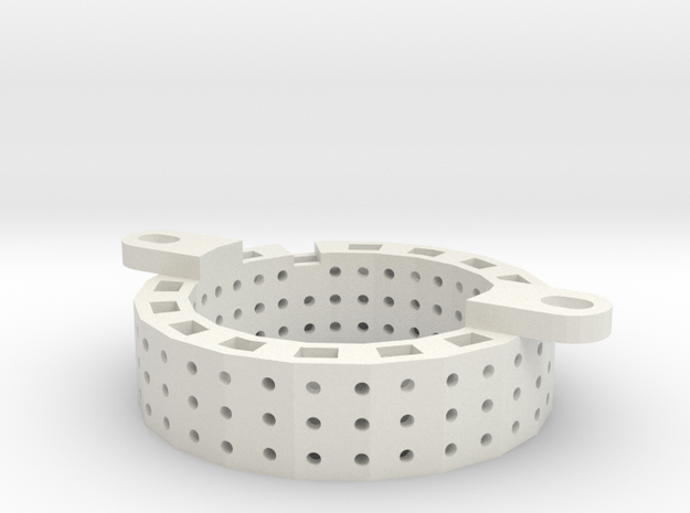 Motor Mounting Ring LIMA in White Natural Versatile Plastic