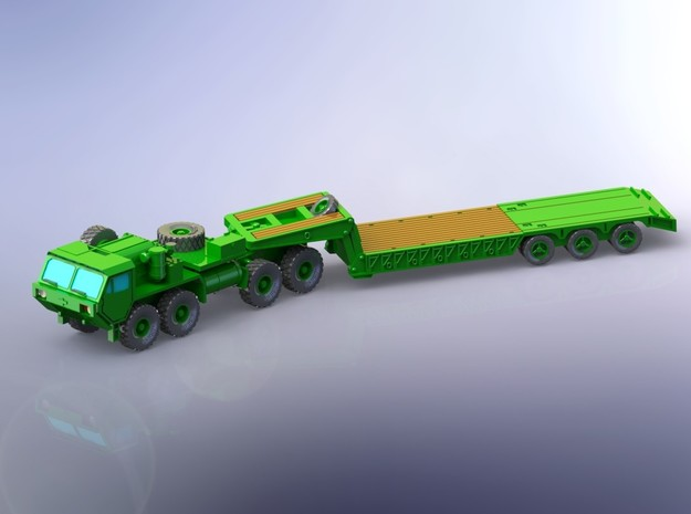 HEMTT M983 with M870A1 Semitrailer 1/200 in Smooth Fine Detail Plastic