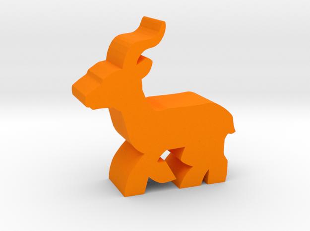 Game Piece, Gazelle running in Orange Processed Versatile Plastic
