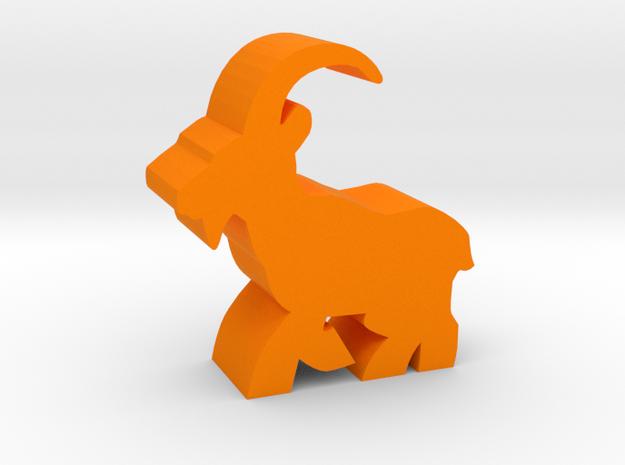 Game Piece, Ibex running in Orange Processed Versatile Plastic