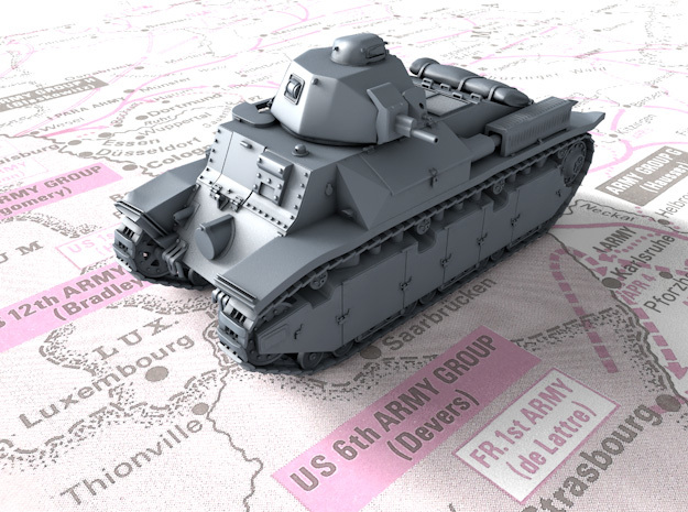 1/144 French Char D2 Medium Tank in Smooth Fine Detail Plastic