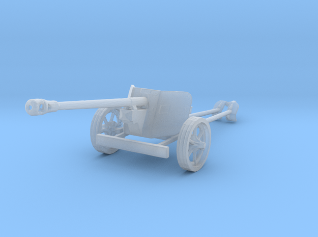 1/160 n-scale Pak40 german anti tank gun WW2 in Smooth Fine Detail Plastic
