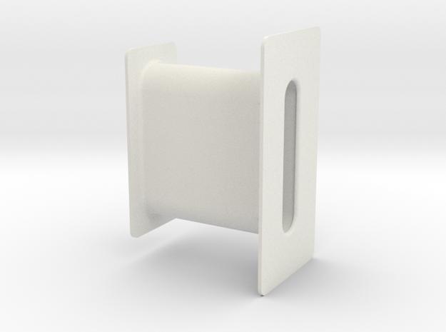 Buick seat belt sleeve in White Natural Versatile Plastic