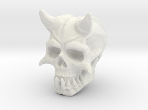 Demon Skull V1 in White Natural Versatile Plastic