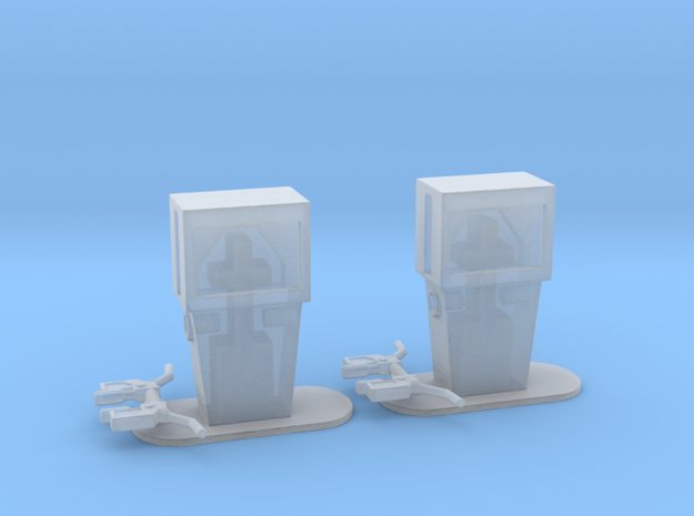Gas Pumps 1960's Era in Smooth Fine Detail Plastic: 1:64 - S