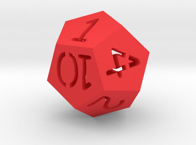 Dice in Red Processed Versatile Plastic