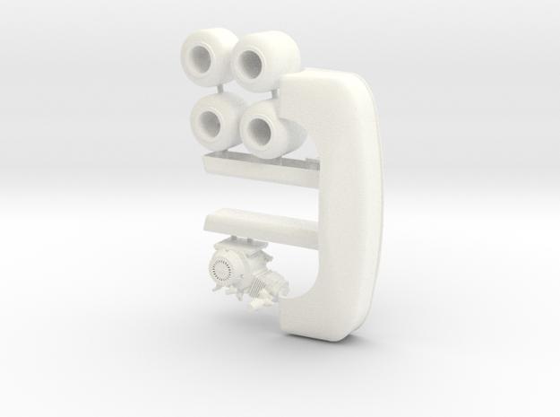 Gocart 1/12  optional pkg 1 in White Processed Versatile Plastic