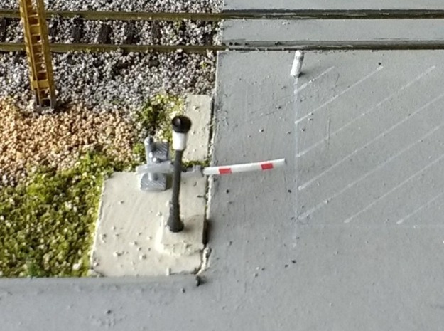 N Scale 2 Pedestrian Crossing Gates in Smooth Fine Detail Plastic