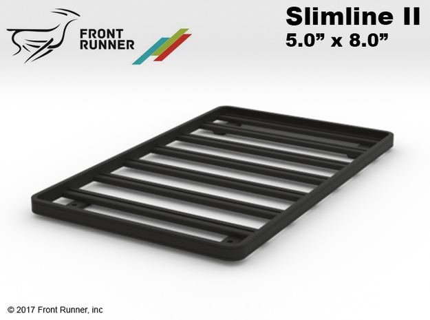 FR10032 Front Runner Slimline II roof Rack 5.0 x 8 in Black Natural Versatile Plastic