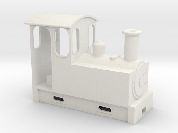 on18 tank locomotive couplers in White Natural Versatile Plastic