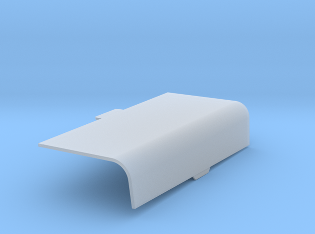 Captain Action Engine Cover Right Closed in Smooth Fine Detail Plastic