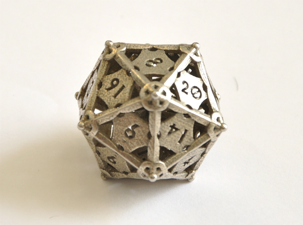 D20 Balanced - Dagger in Polished Bronzed-Silver Steel