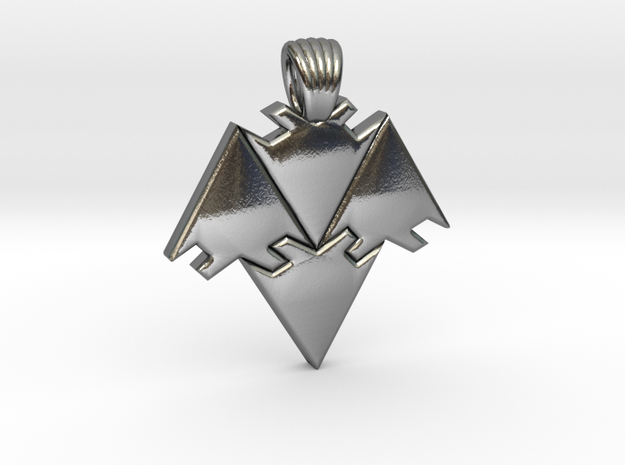 Arrows tiling [pendant] in Polished Silver