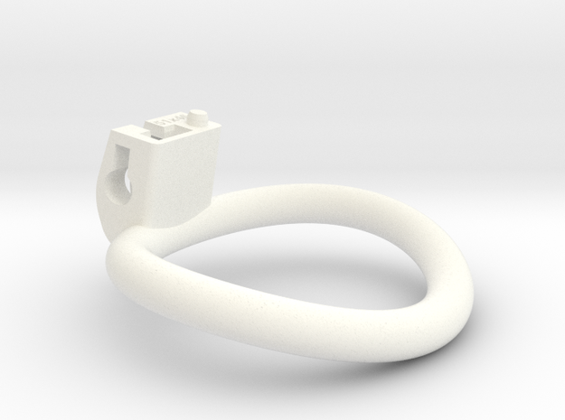 Cherry Keeper Wide Oval Ring - Multiple Sizes in White Processed Versatile Plastic: Extra Large