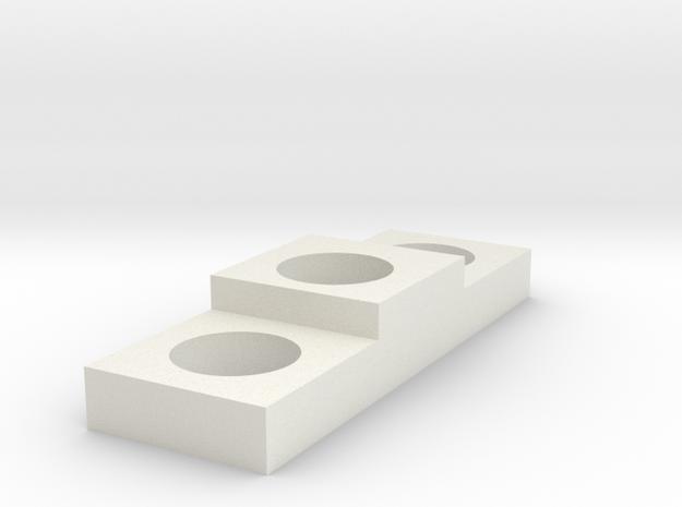 Debgar Rec Greebile in White Natural Versatile Plastic