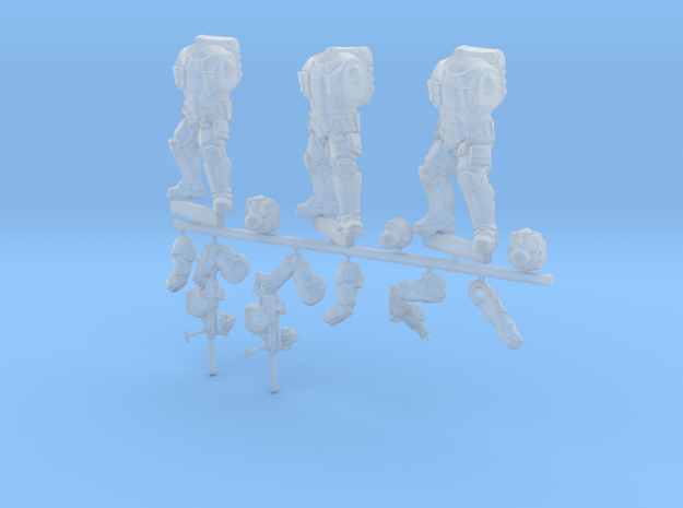 spetsnaz 3 pieces in Smooth Fine Detail Plastic