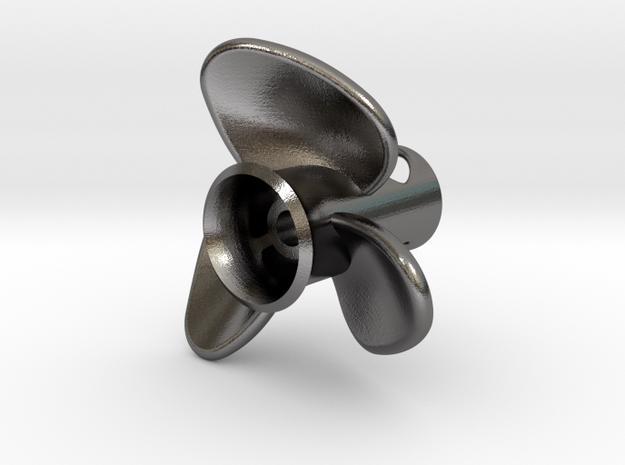 Propeller_side-mount in Polished Nickel Steel