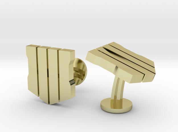 COD Black Ops 4 Cufflinks in 18k Gold Plated Brass